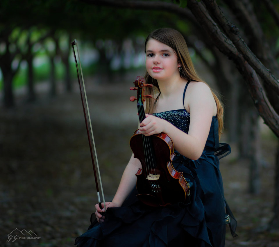Violinist in the Woods - landscape prints portrait services